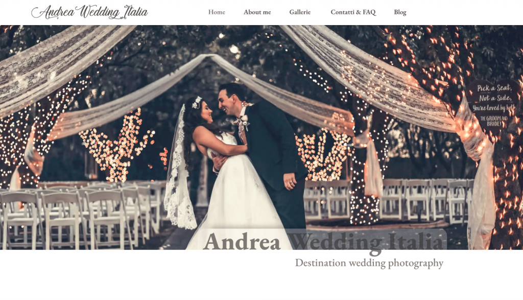 Photography Website Andrea Wedding Italia