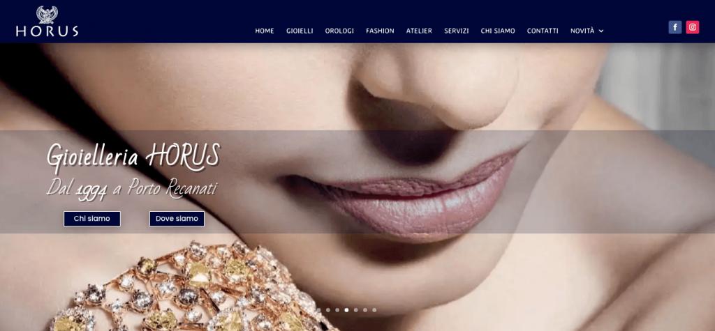 Website Gioielleria Horus