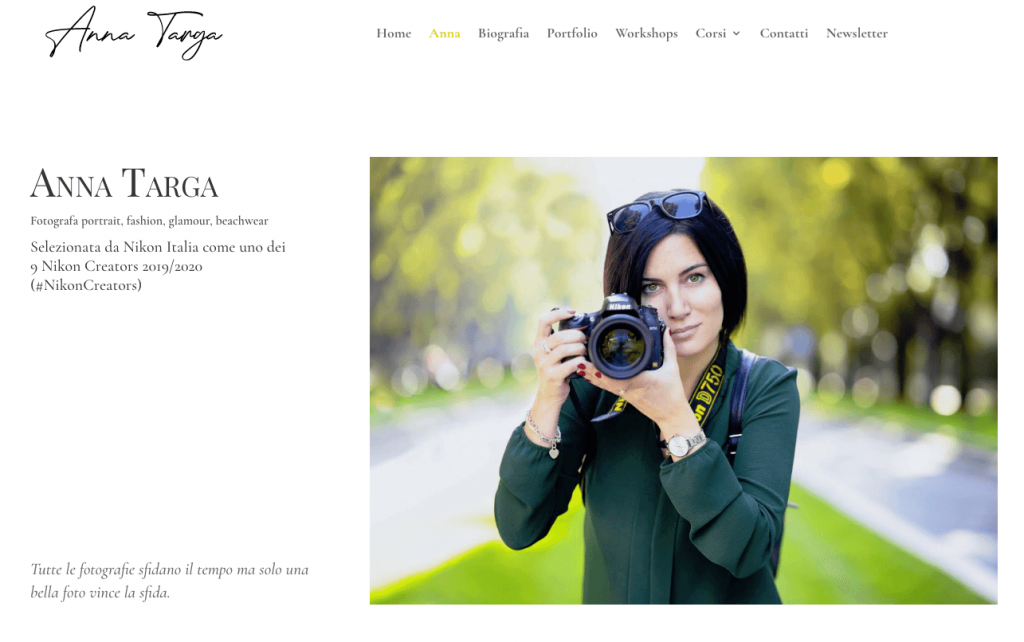 Photography Website Anna Targa